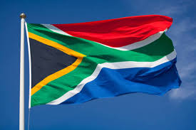 flying SA flag